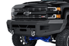 TrailFX HD Chevy Silverado 2500/3500 2015-2019 Front Bumper HD Winch Ready FHDB003TI