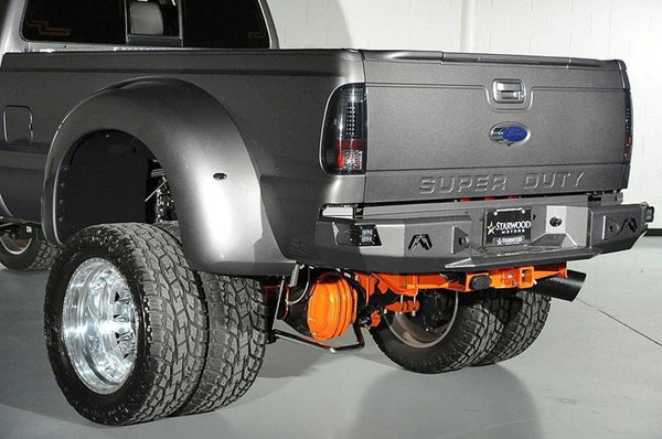 Fab Fours FS08-W1351-1 Premium Rear Bumper/sensor Ford Superduty 1999-2016 - BumperOnly