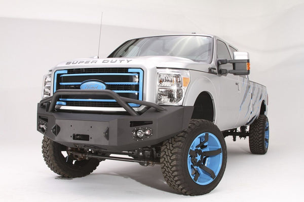 FabFours Premium Front WINCH Bumper 2011+ Ford Superduty F250-F350 ID FS11-A2552-1 - BumperOnly