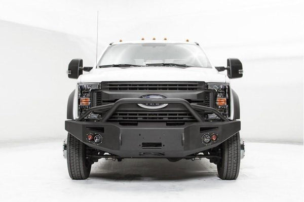 Fab Fours FS17-A4252-1 Ford F450/F550 Superduty 2017-2019 Premium Front Bumper Winch Ready with Pre-Runner Guard