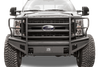 Fab Fours FS99-Q1660-1 Front Bumper Ford F250/F350 Superduty 1999-2004 Full Guard with Tow Hooks Black Steel Elite