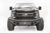 Fab Fours FS99-Q1661-1 Ford F250/F350 Superduty 1999-2004 Black Steel Elite Front Bumper No Guard with Tow Hooks