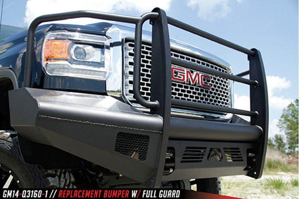 Fab Fours GMC Sierra 2500/3500 2015-2017 Front Bumper Full Guard with Tow Hooks GM14-Q3160-1