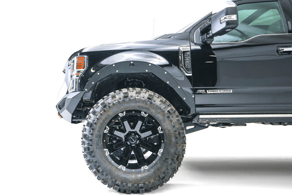 Fab Fours GR4700-1 Ford F250/F350 Superduty 2020-2021 Grumper 2.0 Front Bumper Winch Ready Integrated Sensor Holes