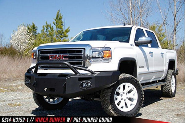 Fab Fours GMC Sierra 1500 2014-2015 Front Bumper Winch Ready with Pre-Runner Guard GS14-H3152-1