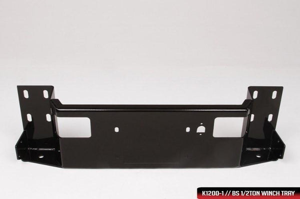 Fab Fours TT14-K2861-1 Toyota Tundra 2014-2021 Black Steel Front Bumper No Guard with Tow Hooks