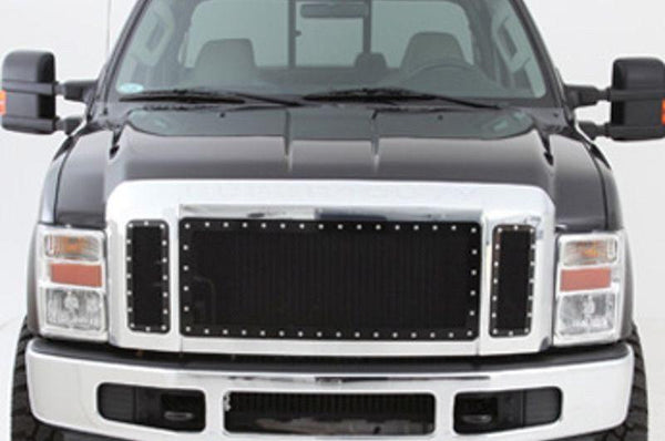 2008-2010 Smittybilt Chevy Silverado 3500 HD 615820 M-1 Wire Mesh Grilles black - BumperOnly