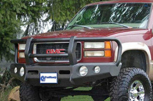 TrailReady 10200G Chevy Tahoe and Suburban 1992-1999 Extreme Duty Front Bumper Winch Ready with Full Guard - BumperOnly