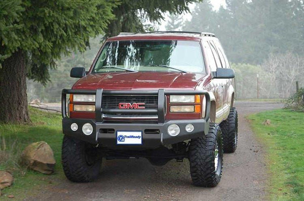 TrailReady 10200G GMC Yukon and Yukon XL 1992-1999 Extreme Duty Front Bumper Winch Ready with Full Guard - BumperOnly
