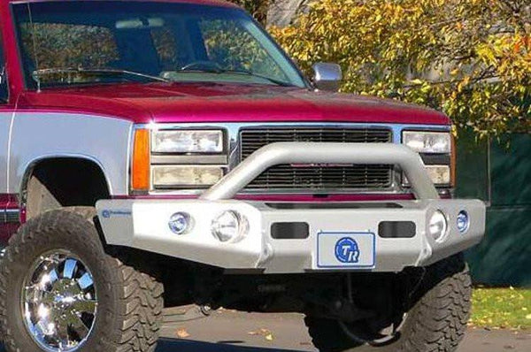 TrailReady 10200P Chevy Silverado 1500 1988-1999 Extreme Duty Front Bumper Winch Ready with Pre-Runner Guard - BumperOnly