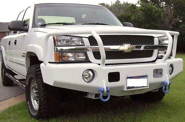 TrailReady 10301G Chevy Silverado 1500 1999-2002 Extreme Duty Front Bumper Winch Ready with Full Guard - BumperOnly