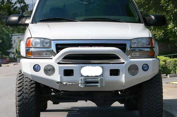TrailReady 10500P GMC Sierra 2500/3500 1999-2002 Extreme Duty Front Bumper Winch Ready with Pre-Runner Guard