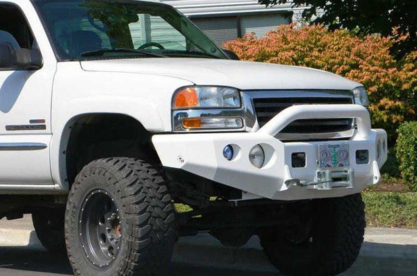 TrailReady 10500P GMC Sierra 2500/3500 1999-2002 Extreme Duty Front Bumper Winch Ready with Pre-Runner Guard - BumperOnly