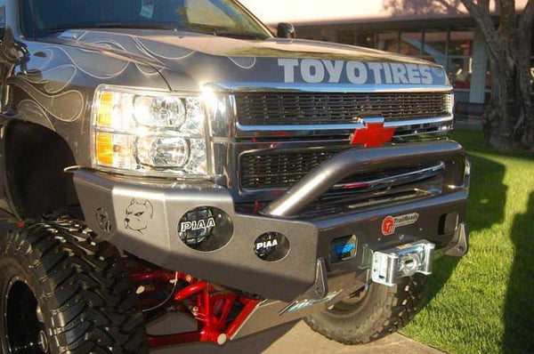 TrailReady 10730P Chevy Silverado 1500 2014-2015 Extreme Duty Front Bumper Winch Ready with Pre-Runner Guard - BumperOnly