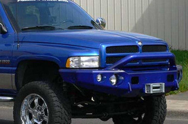 TrailReady 11300P Dodge Ram 1500 1994-2001 Extreme Duty Front Bumper Winch Ready with Pre-Runner Guard - BumperOnly