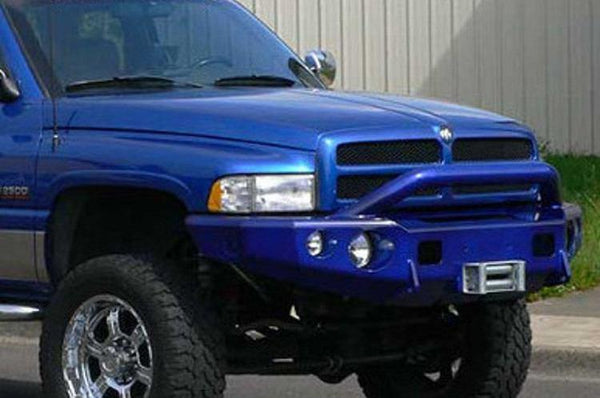 TrailReady 11301P Dodge Ram 2500/3500 1994-2002 Extreme Duty Front Bumper Winch Ready with Pre-Runner Guard - BumperOnly