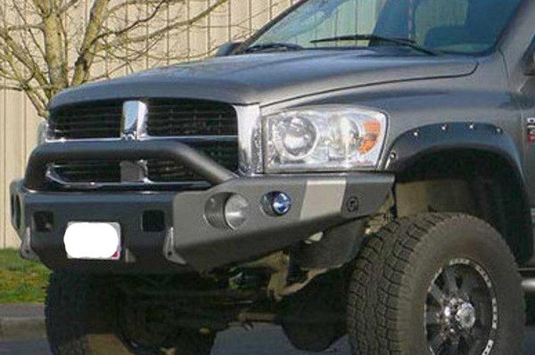 TrailReady PN11601P Dodge Ram 1500 2006-2008 Extreme Duty Front Bumper Winch Ready with Pre-Runner Guard
