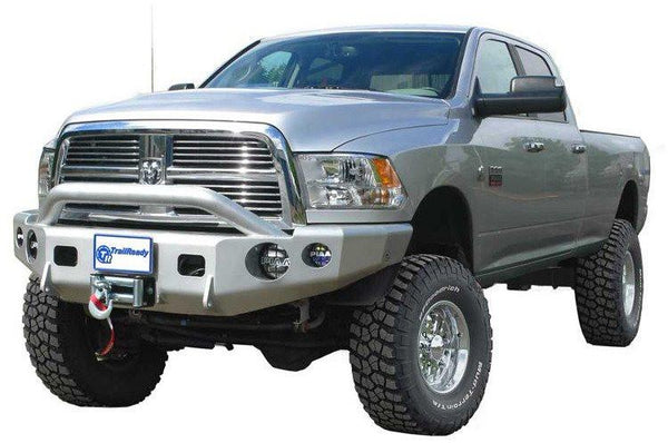 TrailReady 11675P Dodge Ram 1500 2009-2016 Extreme Duty Front Bumper Winch Ready with Pre-Runner Guard - BumperOnly