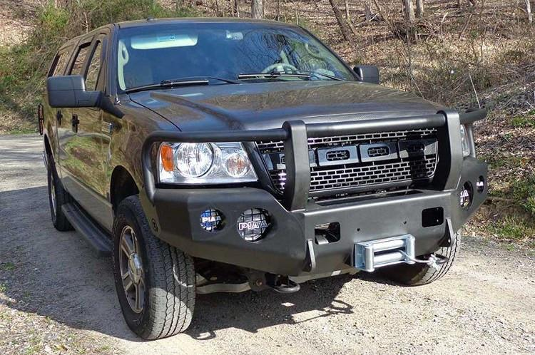 Trailready 12201g Ford F150 2004 2008 Extreme Duty Front Bumper Winch Ready With Full Guard