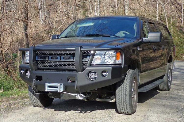 TrailReady 12201G Ford F150 2004-2008 Extreme Duty Front Bumper Winch Ready with Full Guard - BumperOnly