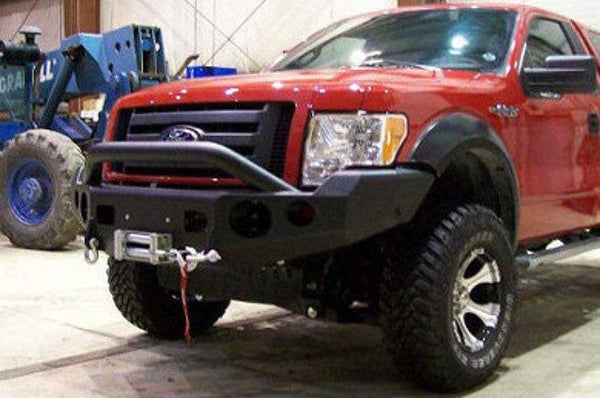 TrailReady 12202P Ford F150 2009-2014 Extreme Duty Front Bumper Winch Ready with Pre-Runner Guard - BumperOnly