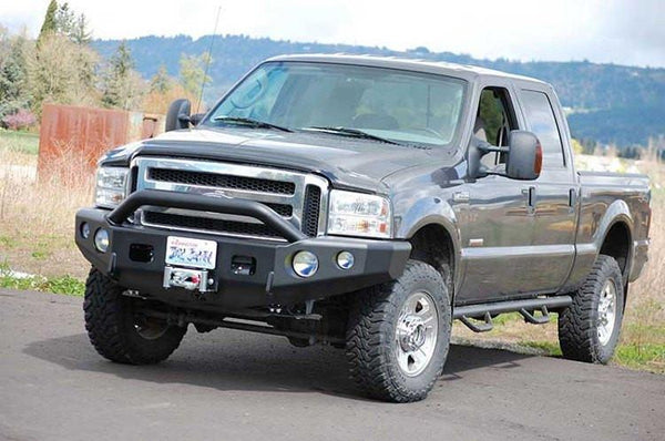 TrailReady 12300P Ford F250/F350 Superduty 1998-2000 Extreme Duty Front Bumper Winch Ready with Pre-Runner Guard - BumperOnly