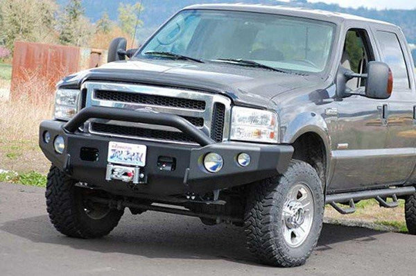 TrailReady 12301P Ford F450/F550 Superduty 2001-2004 Extreme Duty Front Bumper Winch Ready with Pre-Runner Guard - BumperOnly