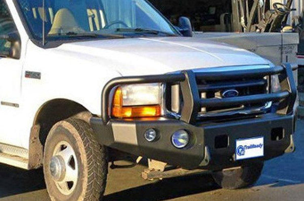 TrailReady 12302G Ford F250/F350 Superduty 2004 Extreme Duty Front Bumper Winch Ready with Full Guard - BumperOnly