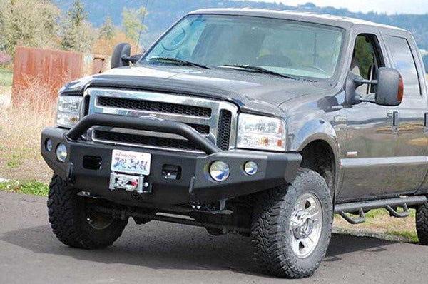 TrailReady 12302P Ford F250/F350 Superduty 2004 Extreme Duty Front Bumper Winch Ready with Pre-Runner Guard - BumperOnly