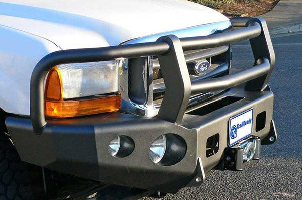 TrailReady 12303G Ford F450/F550 Superduty 2005-2007 Extreme Duty Front Bumper Winch Ready with Full Guard - BumperOnly