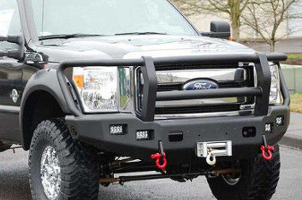 TrailReady PN12311G Ford F450/F550 Superduty 2008-2010 Extreme Duty Front Bumper Winch Ready with Full Guard