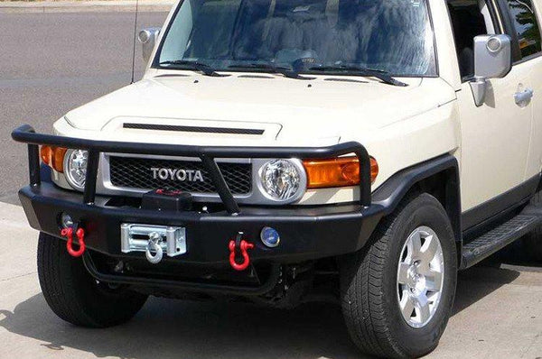 TrailReady 3400G Toyota FJ Cruiser 2007-2013 Extreme Duty Front Bumper Winch Ready with Full Guard - BumperOnly