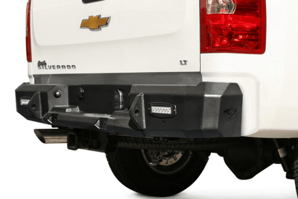 Westin 58-25150RS Chevy Silverado 2500/3500 2015-2017 HDX Rear Bumper with Sensors Raw Finish
