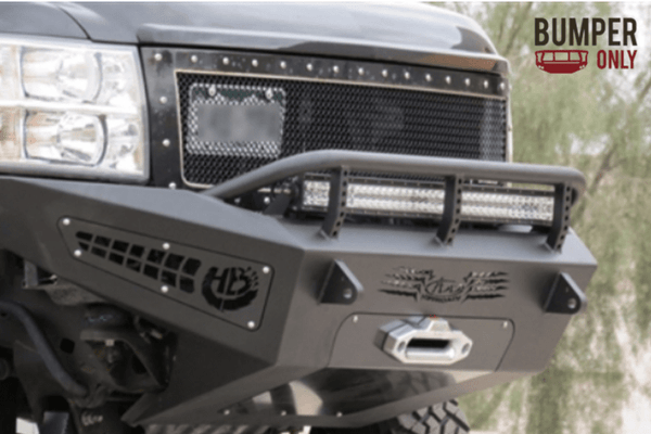 ADD F297355000103 Chevy Silverado 2500/3500 2011-2014 Honeybadger Front Bumper with Winch Mount
