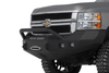Road Armor 315R4Z 2015-2018 Chevy Silverado 2500/3500 Stealth Front Winch Ready Bumper Pre-Runner Style, Raw Finish and Square Fog Light Hole