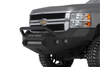Road Armor 315R4Z-NW 2015-2018 Chevy Silverado 2500/3500 Stealth Front Non-Winch Bumper Pre-Runner Style, Raw Finish and Square Fog Light Hole