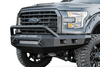 Road Armor 613R4Z-NW 2009-2014 Ford Stealth F150 Front Non-Winch Bumper Pre-Runner Style, Raw Finish and Square Fog Light Hole