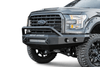 Road Armor 60804Z-NW 2008-2010 Ford F250/F350/F450 Superduty Stealth Front Non-Winch Bumper Pre-Runner Style, Raw Finish and Round Fog Light Hole