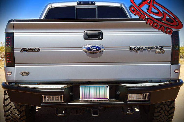 ADD R011021280103 2009 - 2014 Ford F-150 Stealth Fighter Rear Bumper With Dually Light Mounts - BumperOnly