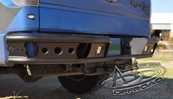 ADD R0122812801NA 2010-2014 Ford SVT Raptor Dimpler R Rear Bumper With Backup Sensor Cutout and Dually Light Mounts - BumperOnly