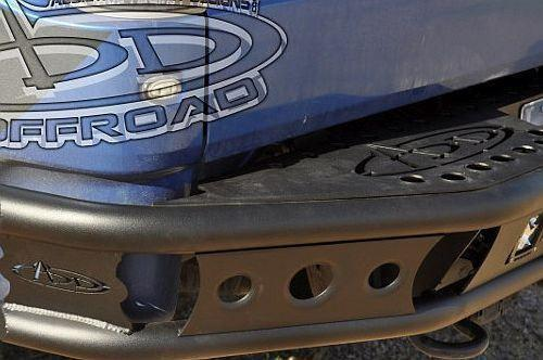 ADD R0123012801NA 2011 - 2014 Ford Eco-boost F-150 Dimple R Rear Bumper With Duallys Light Mounts And Add Logo - BumperOnly