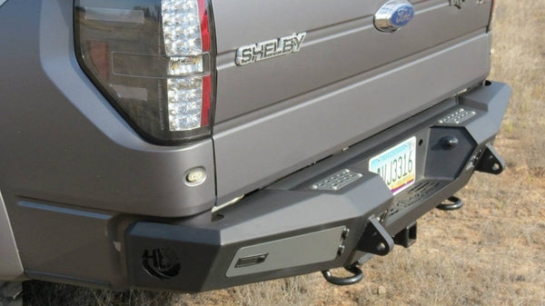 ADD R017301280103 2010-2014 Ford F150 Raptor HONEYBADGER Rear Bumper With Tow Hooks & Backup Sensor Cutouts - BumperOnly