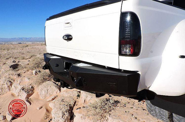 ADD R097301280103 1999 - 2016 Ford F-250/350 HoneyBadger Rear Bumper With Lockable Storage Space And Backup Sensor Cutout - BumperOnly