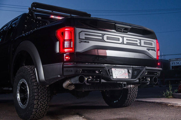 ADD R113401280103 2017-2020 Ford F150 Raptor Stealth R Rear Bumper with Backup Sensor In Hammer Black