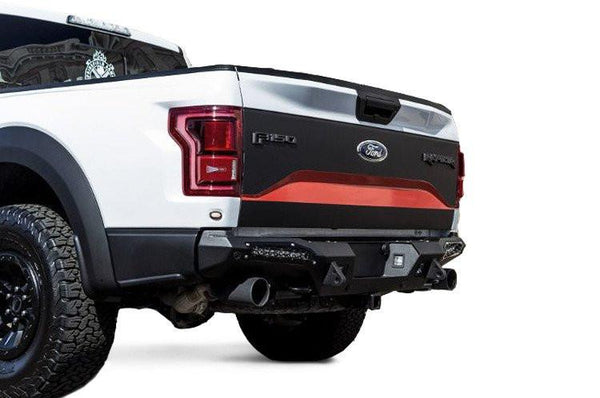 ADD Honeybadger Rear Bumper 2017-2018 Ford F150 Raptor R117321430103 With Tow Hooks and Backup Sensor Holes