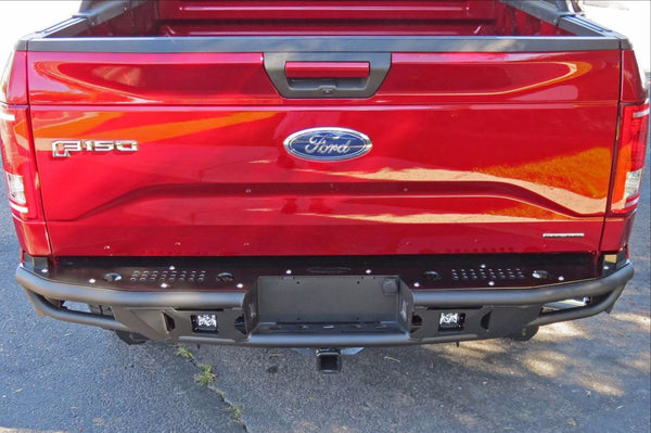 ADD R1549512801NA 2015-2018 Ford F-150 Race Series R Rear Bumper With Pair Of Dually Mounts - BumperOnly