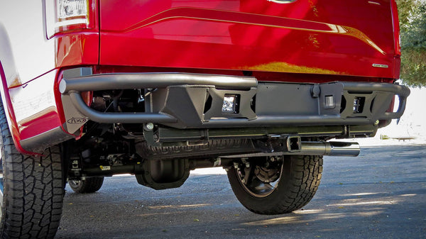 ADD R1549712801NA 2015-2020 Ford F150 Race Series R Rear Bumper With Backup Sensor Cutouts And Pair Of Dually Mounts