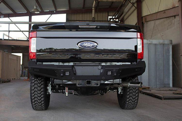 ADD R167301280103 2017-2020 Ford F250/F350 Superduty Honeybadger Rear Bumper with Backup Sensor Cut Outs
