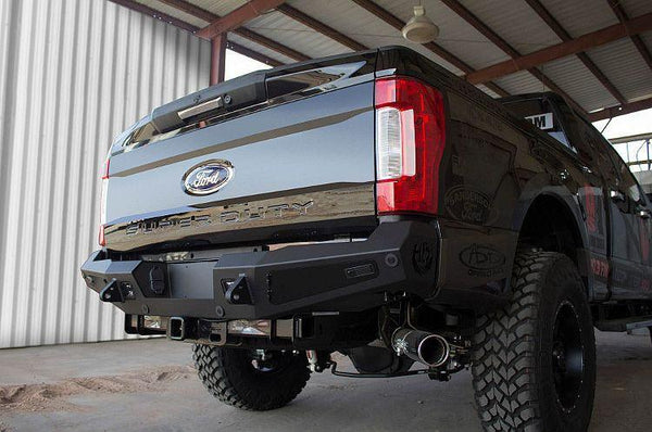 ADD R167301280103 2017 Ford F-250/F-350 Honeybadger Rear Bumper With Backup Sensor Cut Outs - BumperOnly