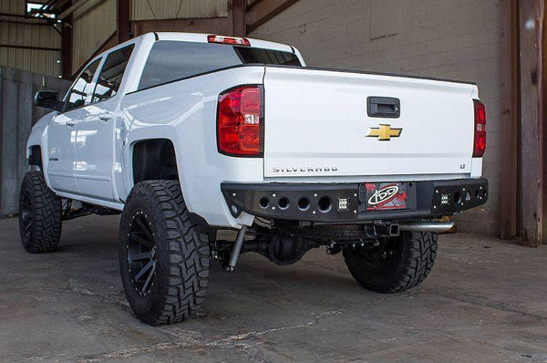 ADD R283281280103 Chevy Silverado 1500 2014-2018 Stealth Rear Bumper - BumperOnly